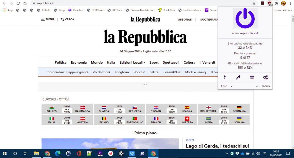 La Repubblica on AD Blocker